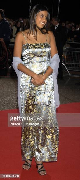 Eastenders actress Pooja Shah arrives for the annual National Television Awards at the Royal Albert Hall in central London