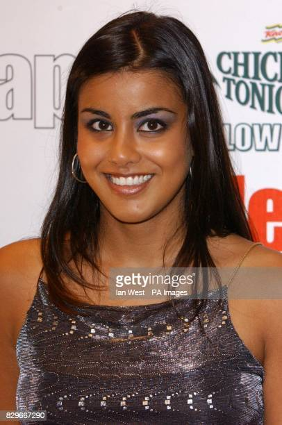 Eastenders actress Pooja Shah arrives for the Inside Soap Awards 2003 at La Rascasse in central London