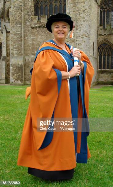 EastEnders star Pam St Clement receives an honorary degree of education from the University of Plymouth at Exeter Cathedral