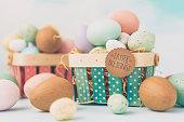 Easter Blessings message on Easter basket