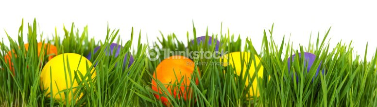 Easter Border Stock Photo