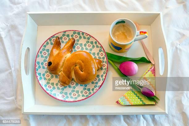 Easter Breakfast on tray