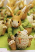 Easter bunnies await shoppers at a florist's March 17 2006 in Berlin Germany The German market for flowers and ornamental plant totals approximately...