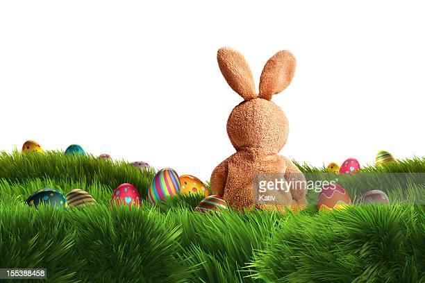 Easter Bunny and three Eggs (XXXL)