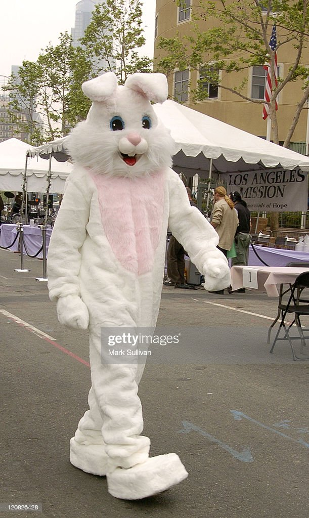 Easter bunny during Los Angeles Mission 2004 Easter Celebration at Downtown Los Angeles in Los Angeles, California, United States.
