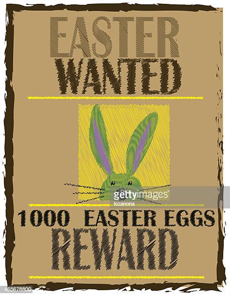 easter bunny wanted  (easter background  with reward )