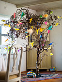 Easter decoration in dining room