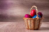 Easter egg basket colorful holiday