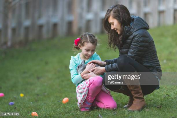 Easter egg hunt with bunny!