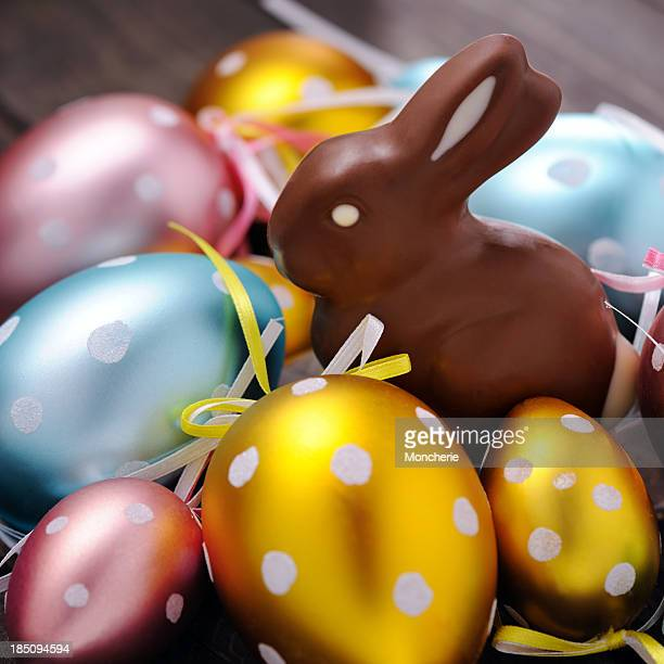 Easter Eggs and chocolate rabbit