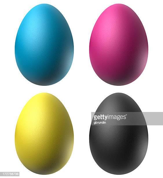 Oeufs de Pâques en CMJN