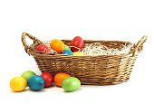 easter eggs in easter basket
