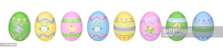 Easter Eggs in Row