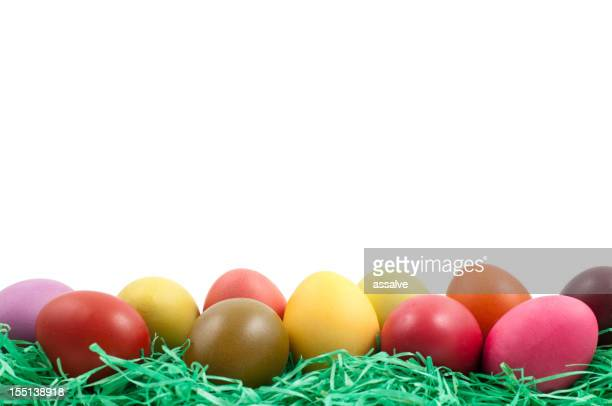 easter eggs with coppy space