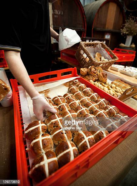 Easter hot cross buns in Australia