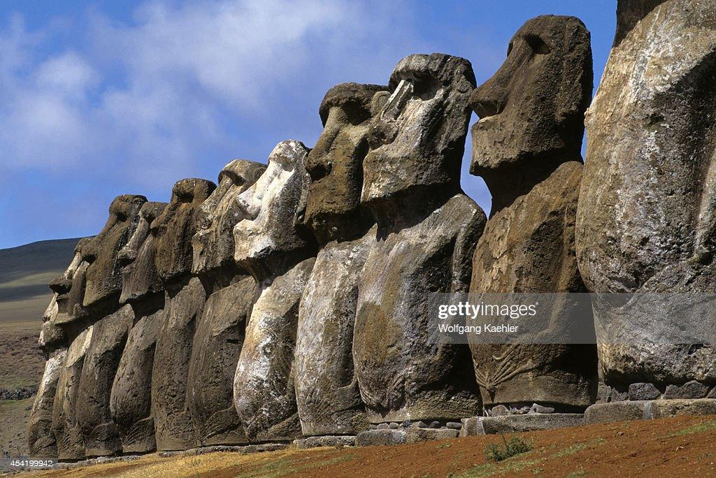 Easter Island, Ahu Tongariki, Moai Statues.