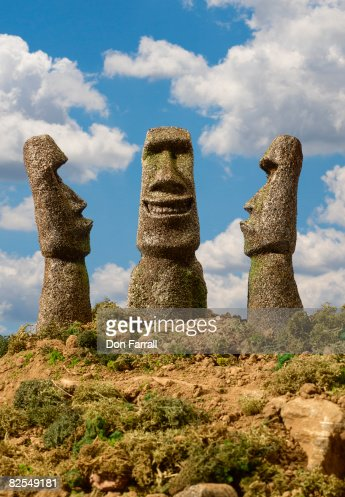 Easter Island Smiling, Frowning