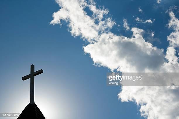 MATIN DE PÂQUES Service au lever du soleil avec cross et du clocher