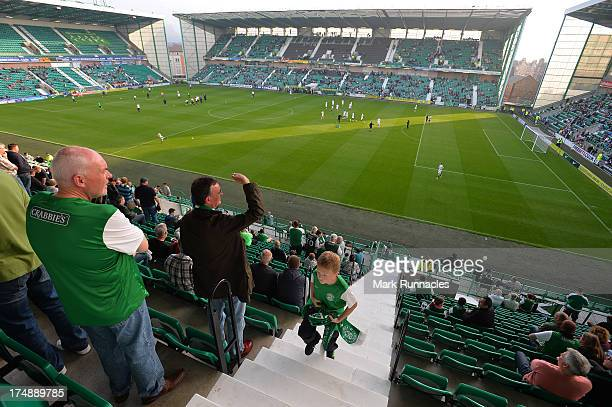 Easter Road Stadium before kick off during the UEFA Europa League Second Round Second Leg Qualifying match between Hibernian and Malmo at Easter Road...