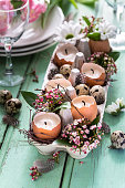 Easter Table setting on background