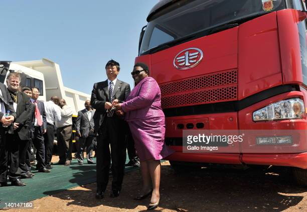 Eastern Cape Premier Noxolo Kiviet with the Vice President of First Automobile Works Jin Yi during a ceremony marking the start of construction at...