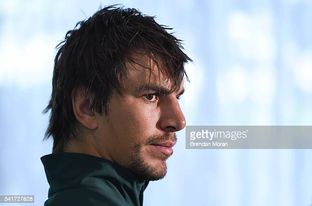 Eastern Cape South Africa 20 June 2016 Eben Etzebeth of South Africa during a press conference in the Garden Court Kings hotel in Port Elizabeth...