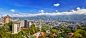 Eastern Caracas city aerial view at early morning