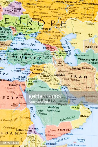 Eastern Europe Middle East And Persian Gulf Region Map Stock Photo Getty Im