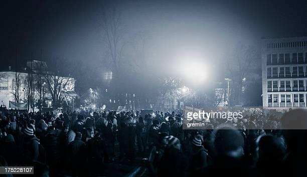 Manifestaciones contra el Gobierno de Europa Oriental