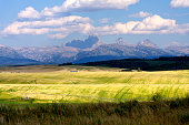 'View of the Teton Range, from Teton County, Idaho'