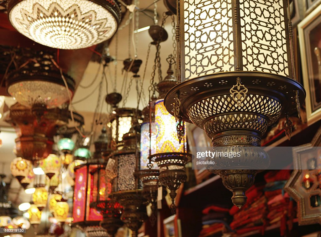 Eastern lantern stock photo getty images for Ramadan decorations at home