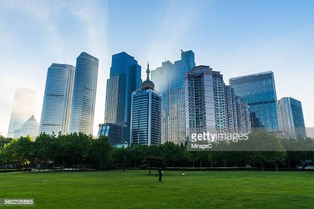 Eastern Qingdao City skyscrapers