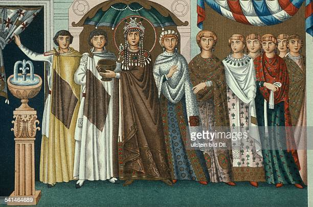 Eastern Roman Empire Theodora 4972806548 Wife of Justinian I Byzantine Emperor since 523 Empress 525548 Theodora with following redrawing after the...