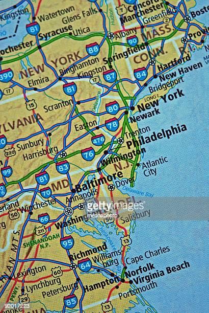 Eastern USA Karte