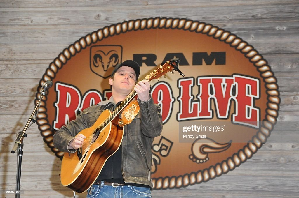 <a gi-track='captionPersonalityLinkClicked' href=/galleries/search?phrase=Easton+Corbin&family=editorial&specificpeople=6756492 ng-click='$event.stopPropagation()'>Easton Corbin</a> performs at Cowboy FanFest during the Wrangler National Finals Rodeo at the on December 14, 2013 in Las Vegas, Nevada.