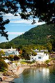 Eastsound Village on Orcas island in the San Juan Islands, Washington State, USA