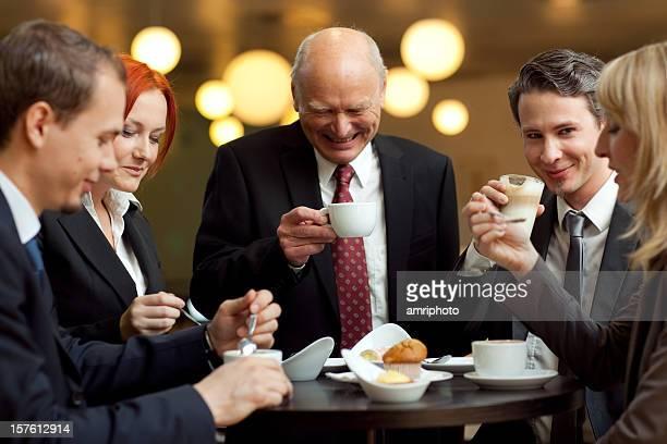 easy atmosphere at coffee break