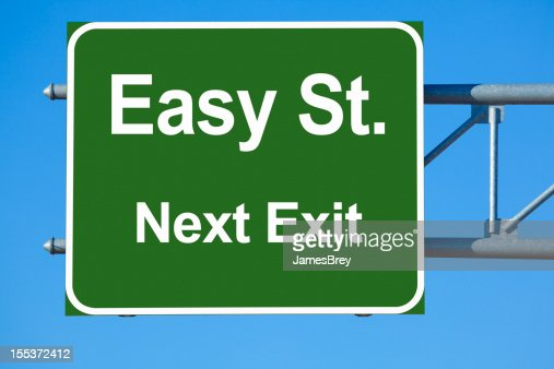 Easy Street Highway Exit Sign