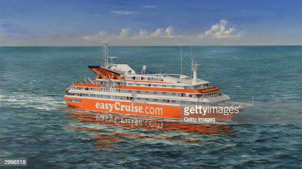 EasyGroup the 'no frills' company released this computer generated handout image of their latest aquisition a cruise ship February 19 2004 in London...