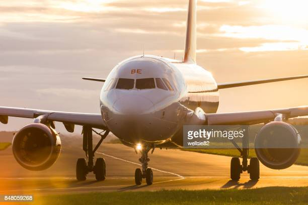 Easyjet airliner taxis out for takeoff