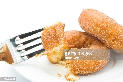 Eat a donut : Stock Photo