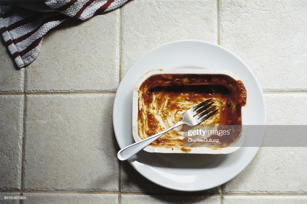 Eaten Microwave Meal : Stock Photo