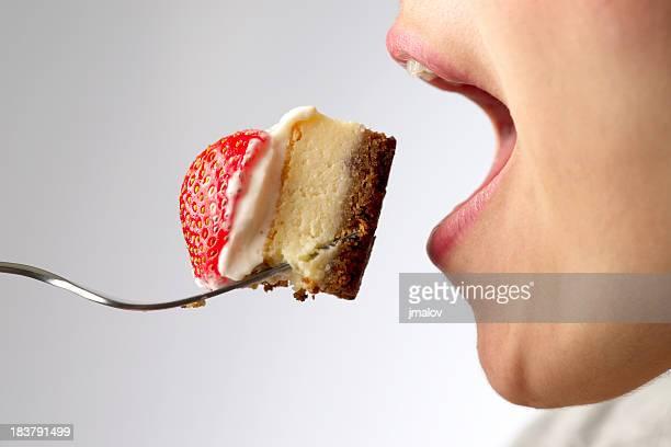 Eating Cheesecake