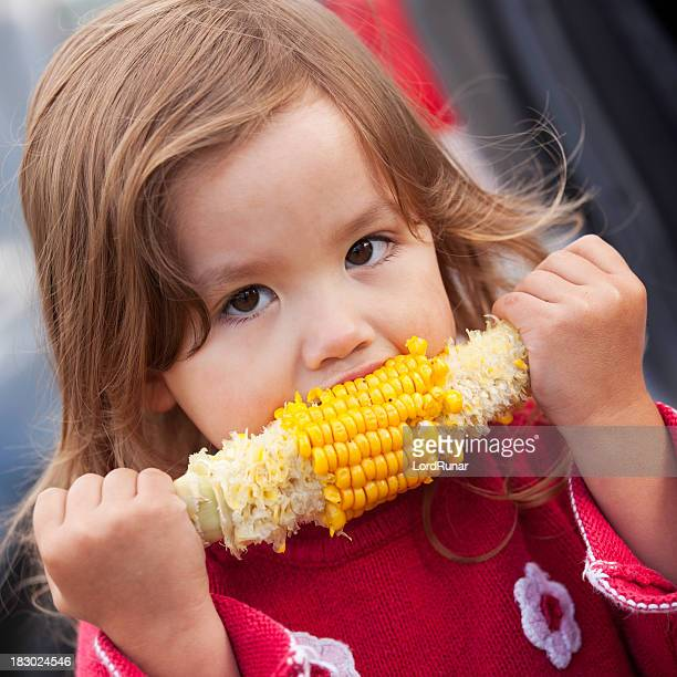 Eating corn