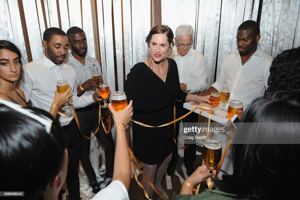 Eating designer Marije Vogelzang helps Stella Artois and The New York Times Companys T Brand Studio host one to remember with 'Food For Thought' on August 21, 2017 in New York City.