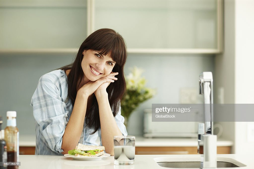 Eating healthy is important to me : Stock Photo
