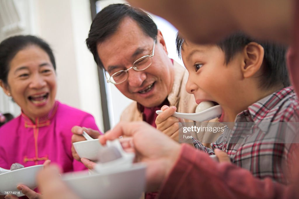 Eating Sweet Dumplings : Stock Photo