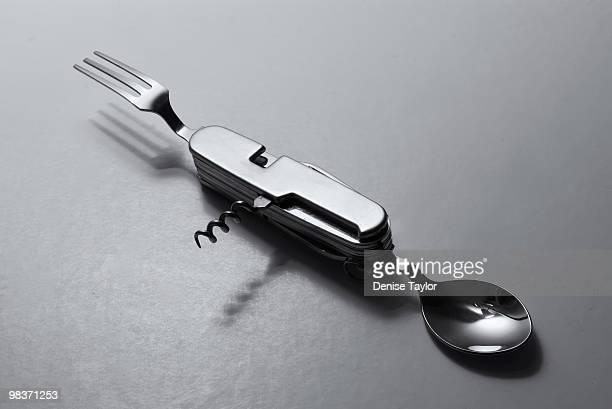 Eating utensil multi purpose tool