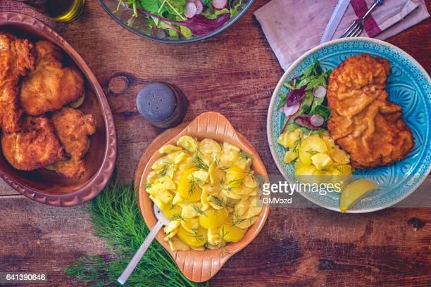 Wiener Schnitzel eten