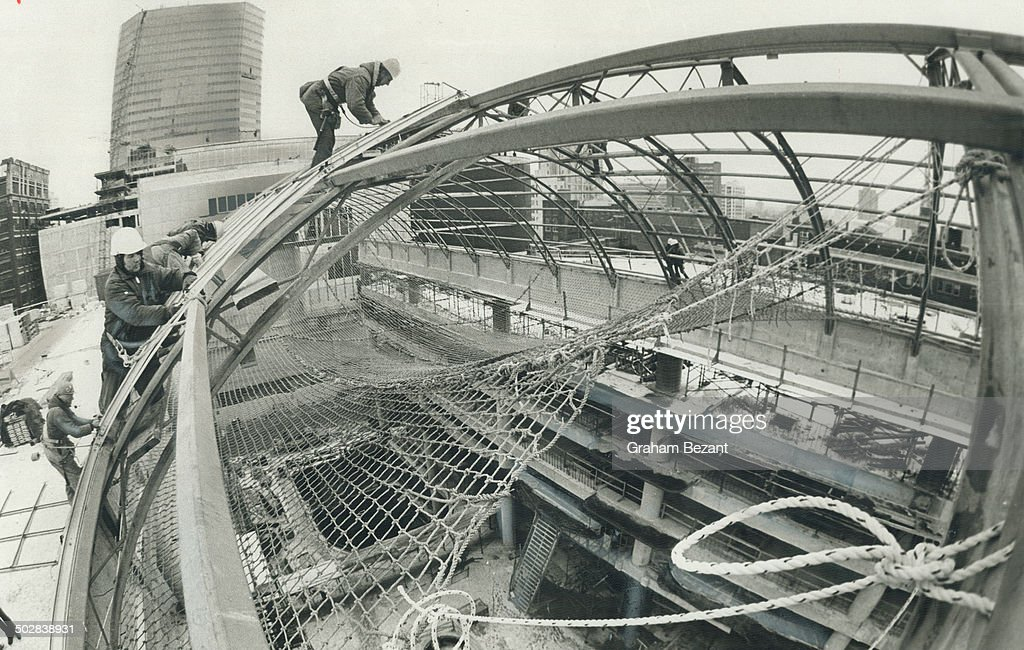 Eaton Centre S Going Up Like The Big Top A 120 By 60 Foot
